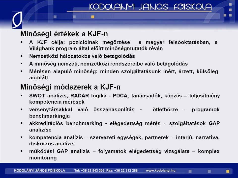 Minőségi értékek a KJF-n