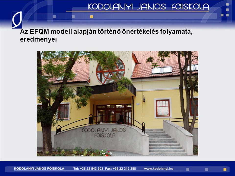 Az EFQM modell alapján történő önértékelés folyamata, eredményei