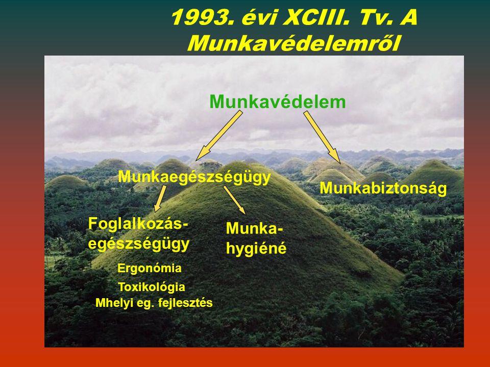 1993. évi XCIII. Tv. A Munkavédelemről