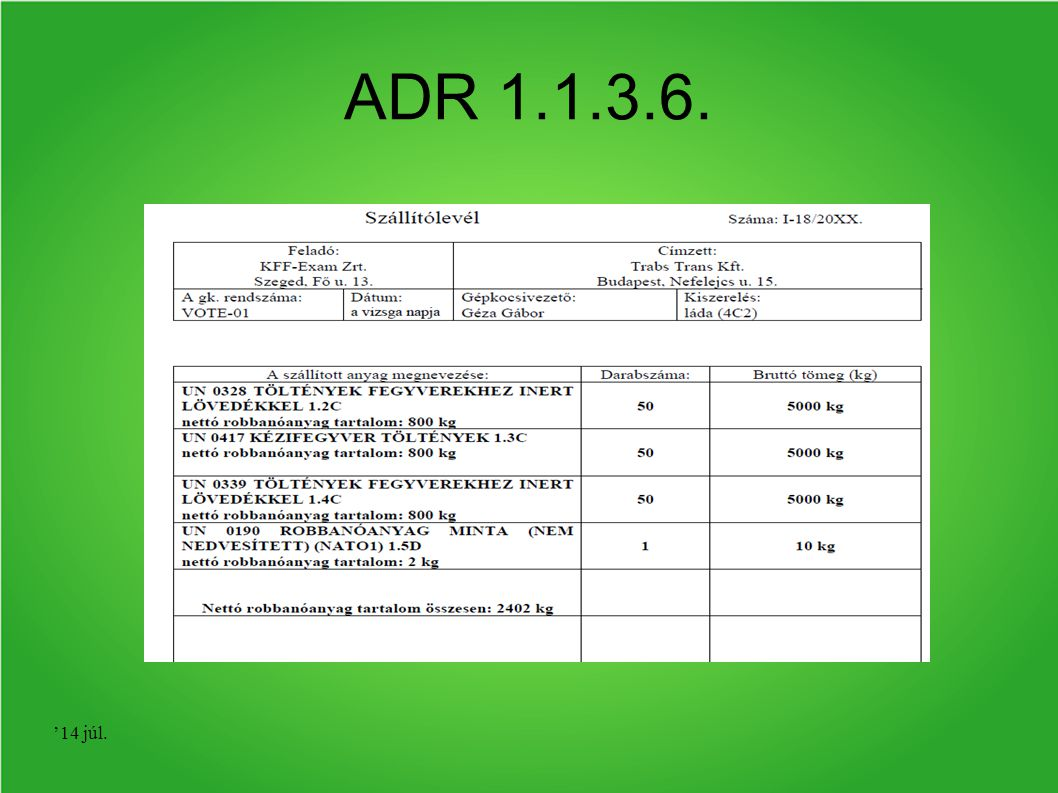 ADR 1.1.3.6. '17 ápr.