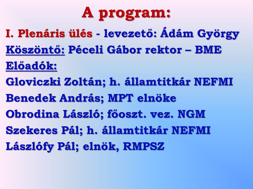 A program: