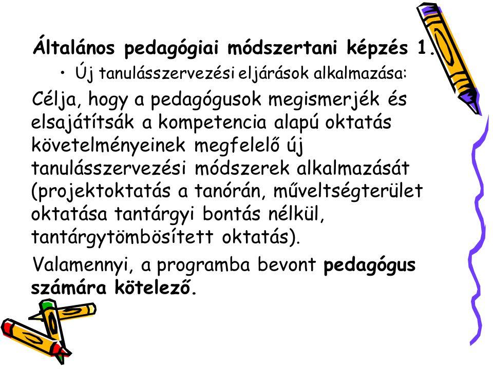 Általános pedagógiai módszertani képzés 1.
