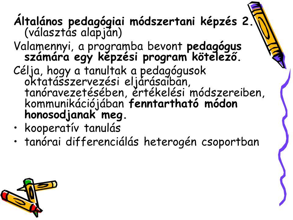 Általános pedagógiai módszertani képzés 2. (választás alapján)