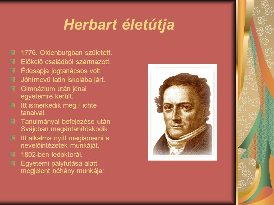 Herbart életútja 1776. Oldenburgban született.