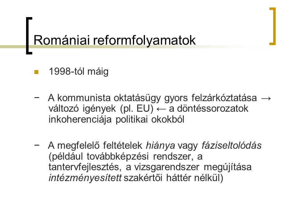Romániai reformfolyamatok
