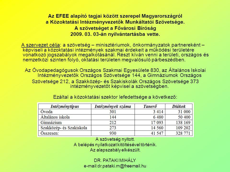 Az EFEE alapító tagjai között szerepel Magyarországról