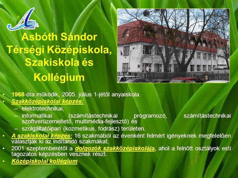Asbóth Sándor Térségi Középiskola, Szakiskola és Kollégium