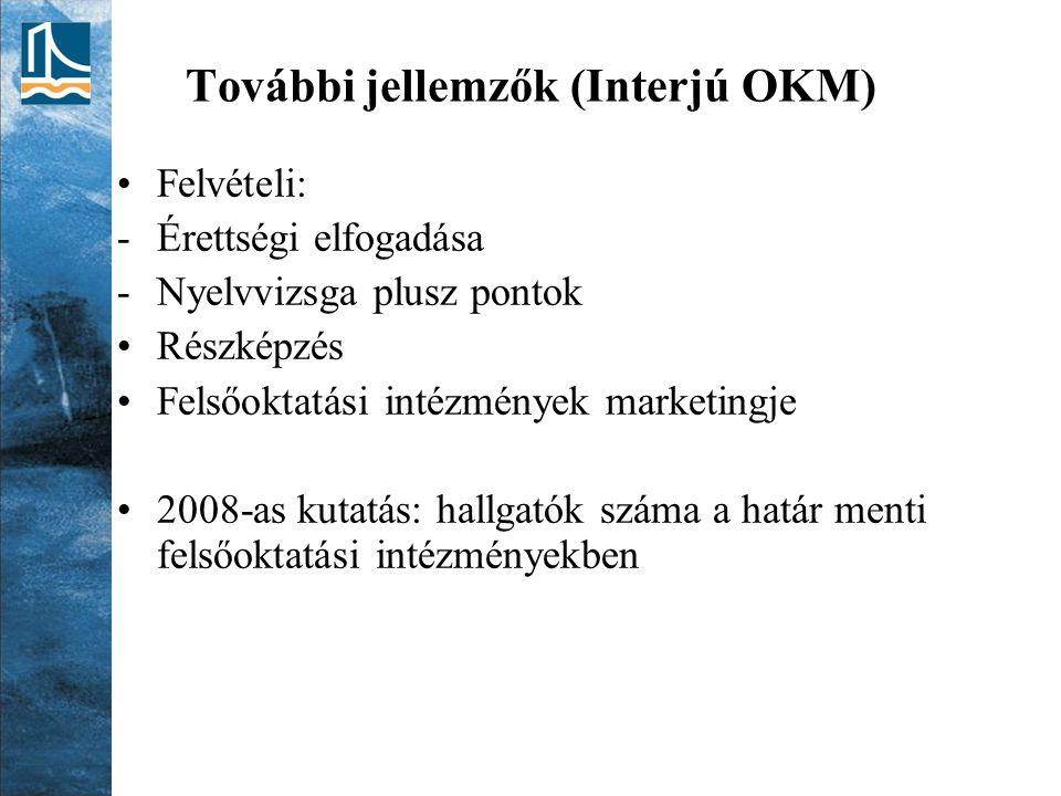További jellemzők (Interjú OKM)