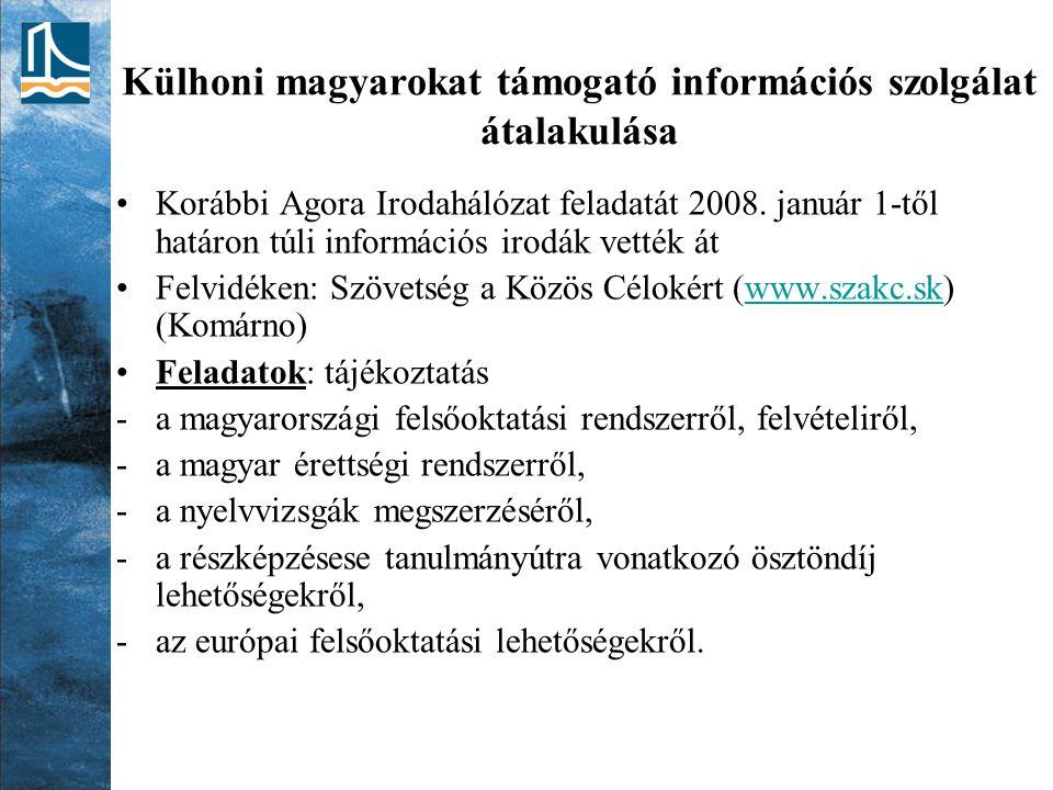 Külhoni magyarokat támogató információs szolgálat átalakulása