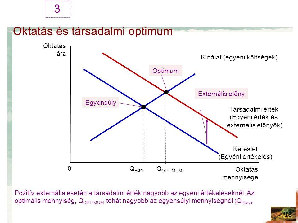 Oktatás és társadalmi optimum