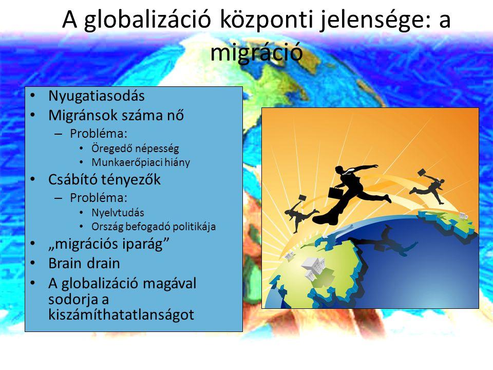 A globalizáció központi jelensége: a migráció