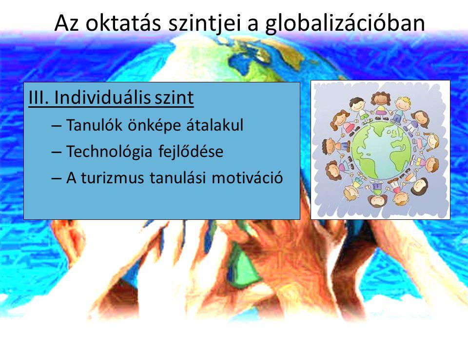 Az oktatás szintjei a globalizációban