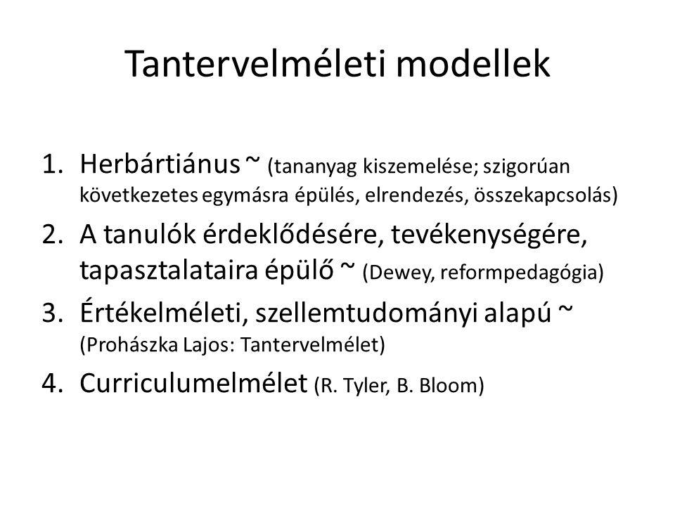 Tantervelméleti modellek