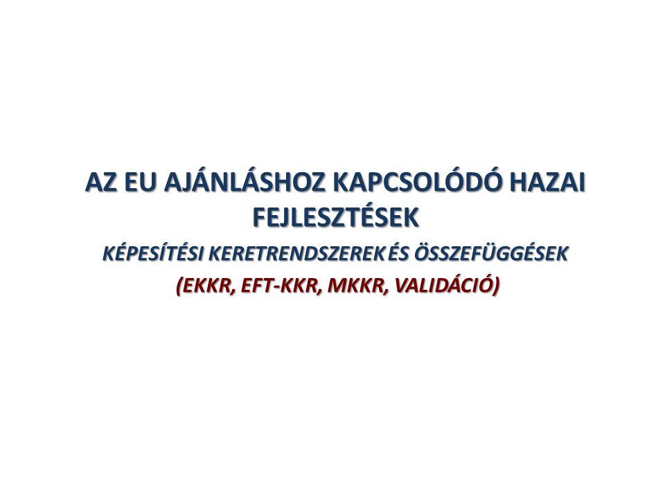 AZ EU AJÁNLÁSHOZ KAPCSOLÓDÓ HAZAI FEJLESZTÉSEK