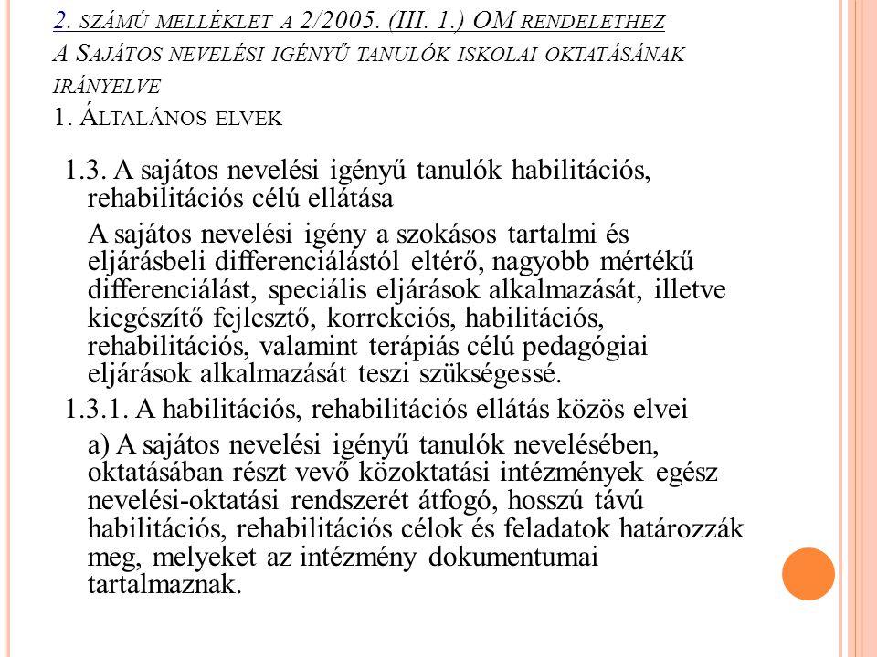 2. számú melléklet a 2/2005. (III. 1