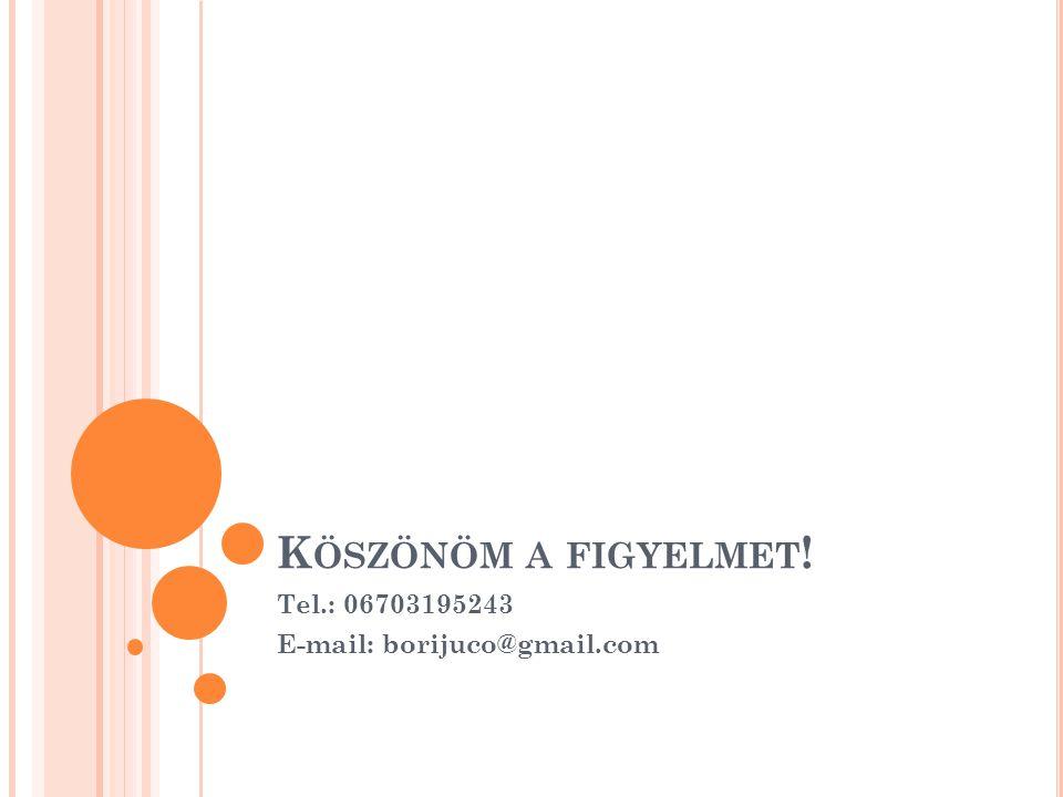 Tel.: 06703195243 E-mail: borijuco@gmail.com