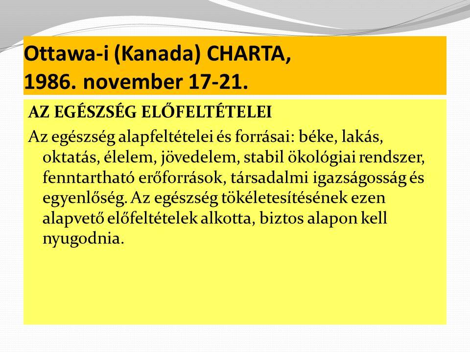 Ottawa-i (Kanada) CHARTA, 1986. november 17-21.