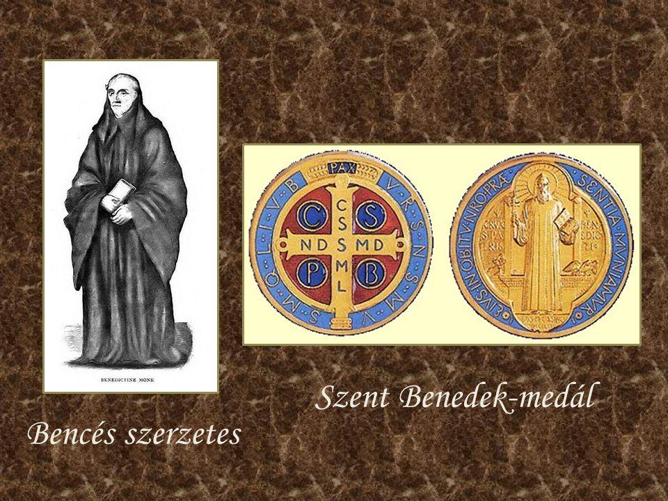 Szent Benedek-medál Bencés szerzetes