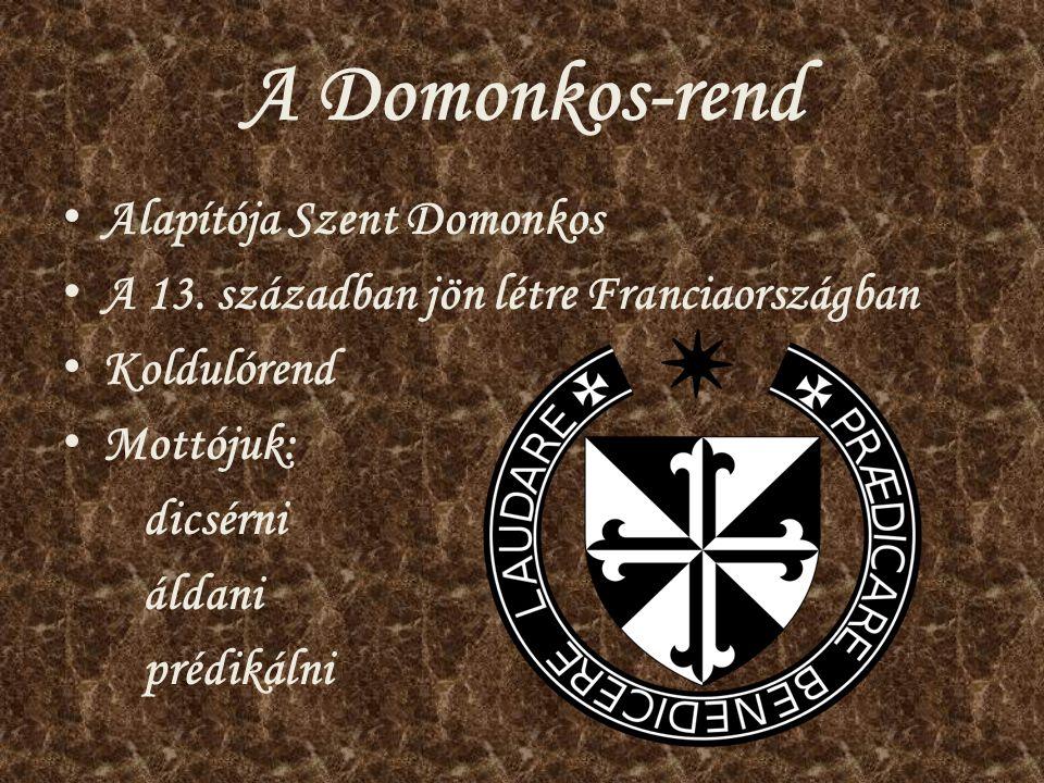 A Domonkos-rend Alapítója Szent Domonkos
