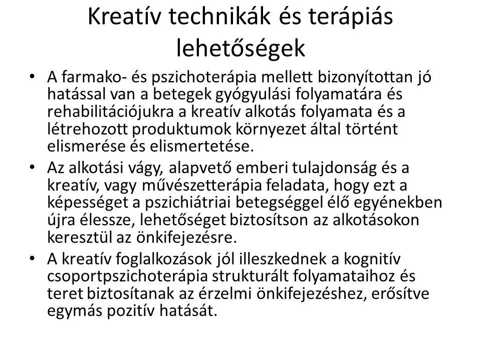 Kreatív technikák és terápiás lehetőségek
