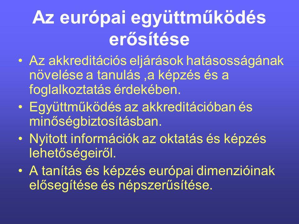 Az európai együttműködés erősítése