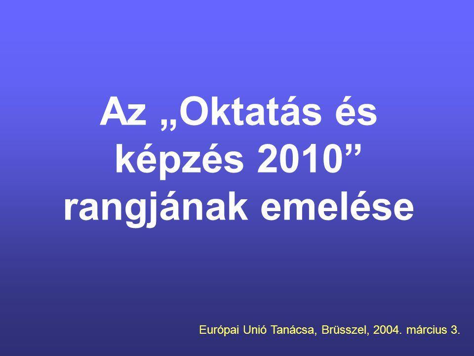 """Az """"Oktatás és képzés 2010 rangjának emelése"""