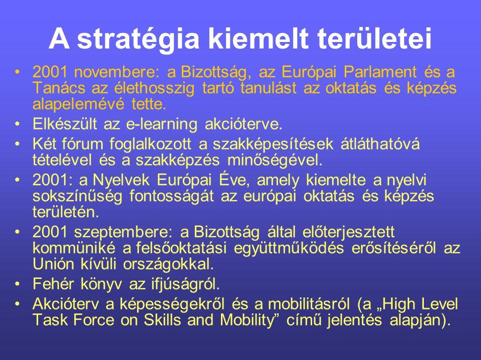 A stratégia kiemelt területei