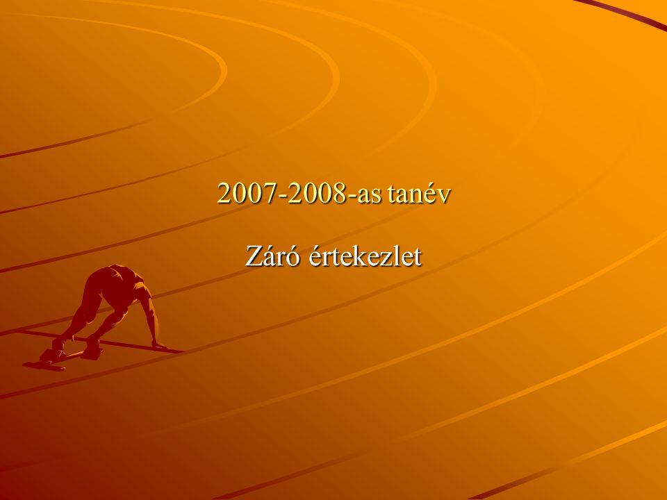 2007-2008-as tanév Záró értekezlet
