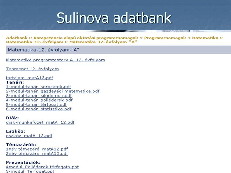 Sulinova adatbank