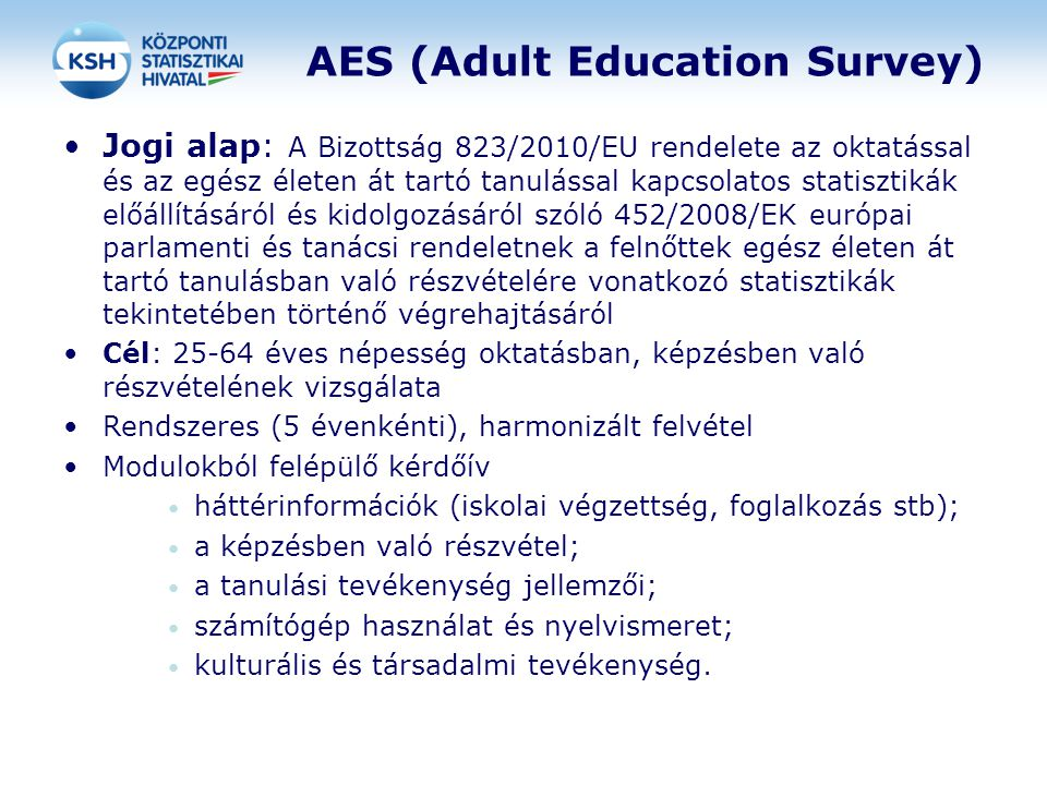 AES (Adult Education Survey)