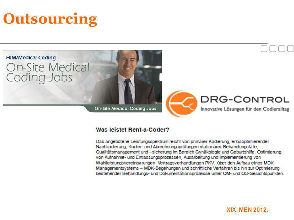 Outsourcing XIX. MEN 2012.