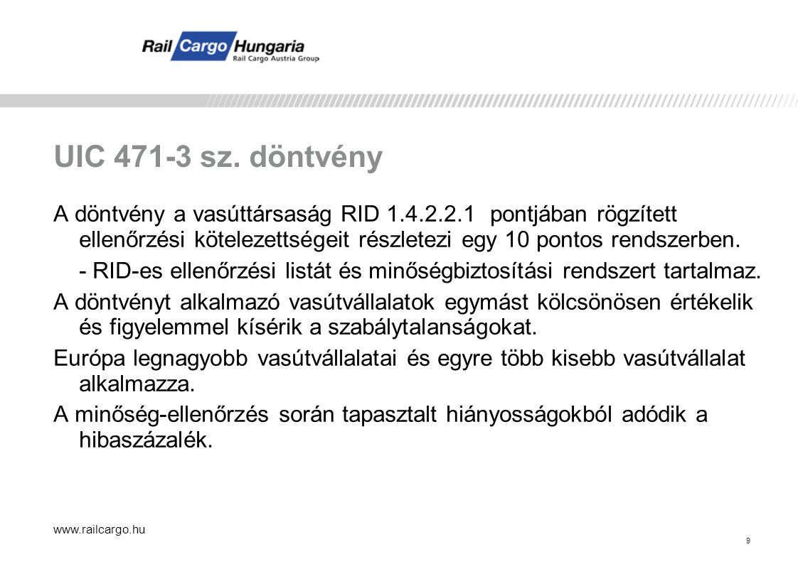 UIC 471-3 sz. döntvény