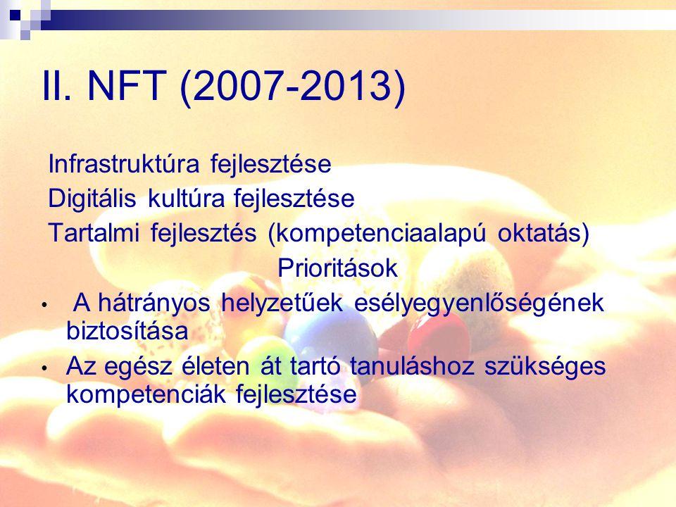 II. NFT (2007-2013) Infrastruktúra fejlesztése