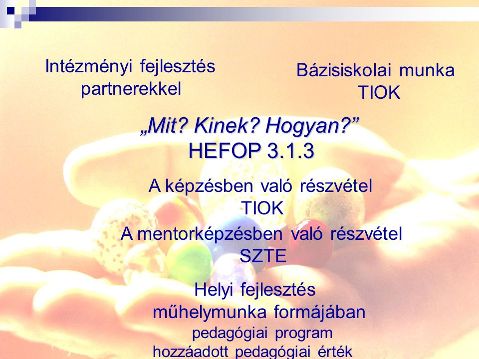 """""""Mit Kinek Hogyan HEFOP 3.1.3"""