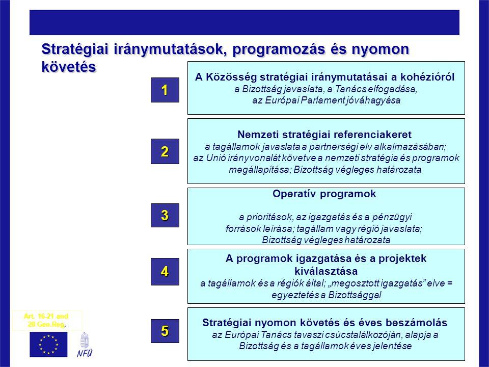 Stratégiai iránymutatások, programozás és nyomon követés