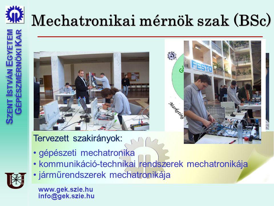 Mechatronikai mérnök szak (BSc)