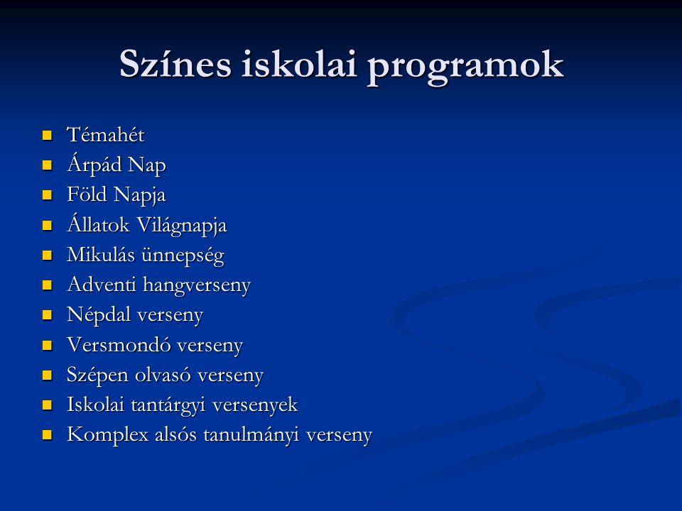 Színes iskolai programok