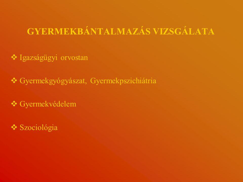 GYERMEKBÁNTALMAZÁS VIZSGÁLATA