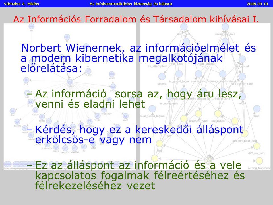 Az Információs Forradalom és Társadalom kihívásai I.