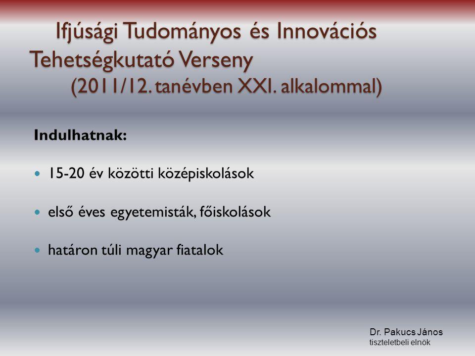 Ifjúsági Tudományos és Innovációs Tehetségkutató Verseny (2011/12