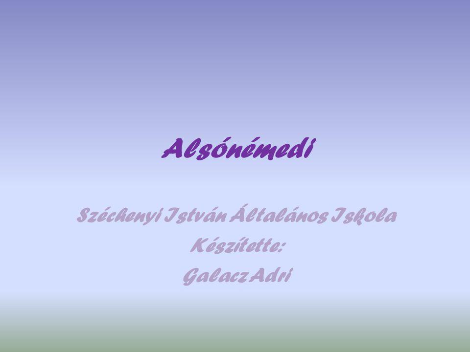 Széchenyi István Általános Iskola Készítette: Galacz Adri