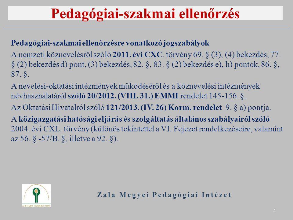 Pedagógiai-szakmai ellenőrzés