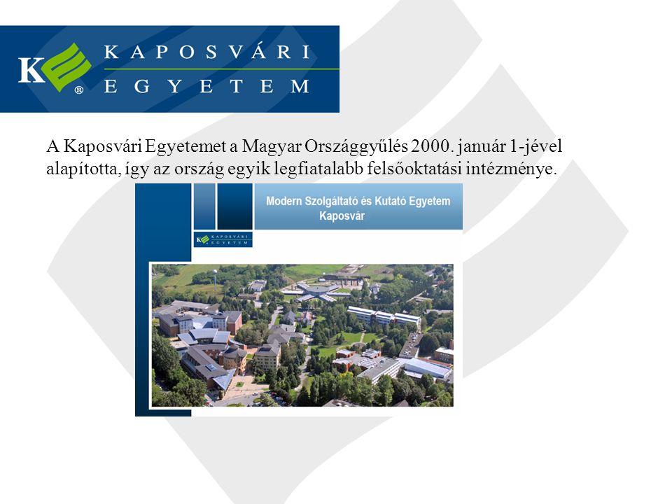 A Kaposvári Egyetemet a Magyar Országgyűlés 2000