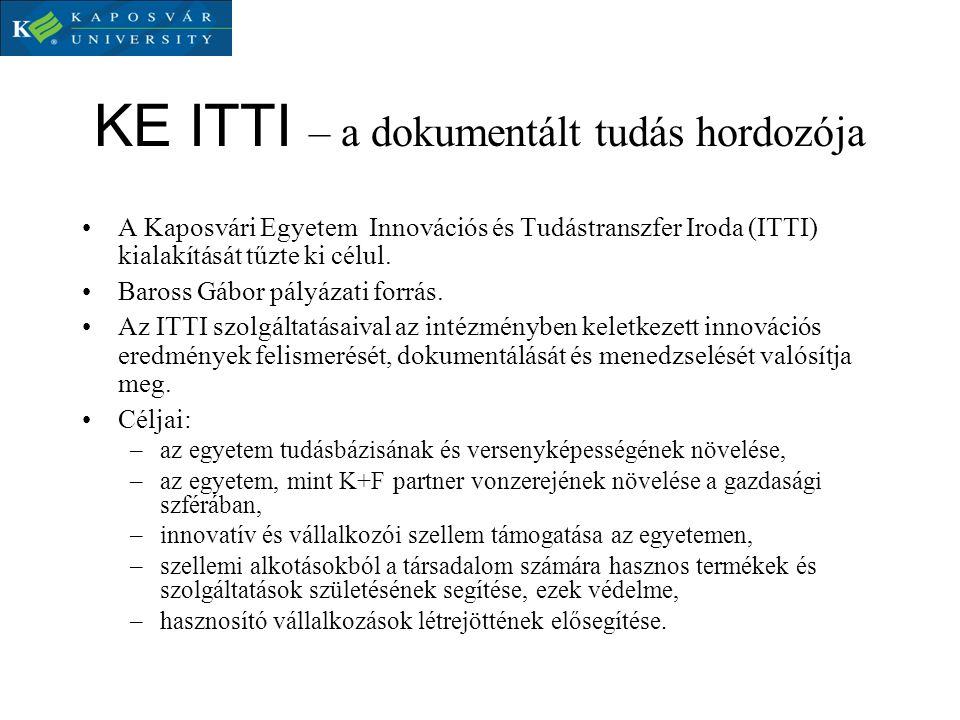 KE ITTI – a dokumentált tudás hordozója