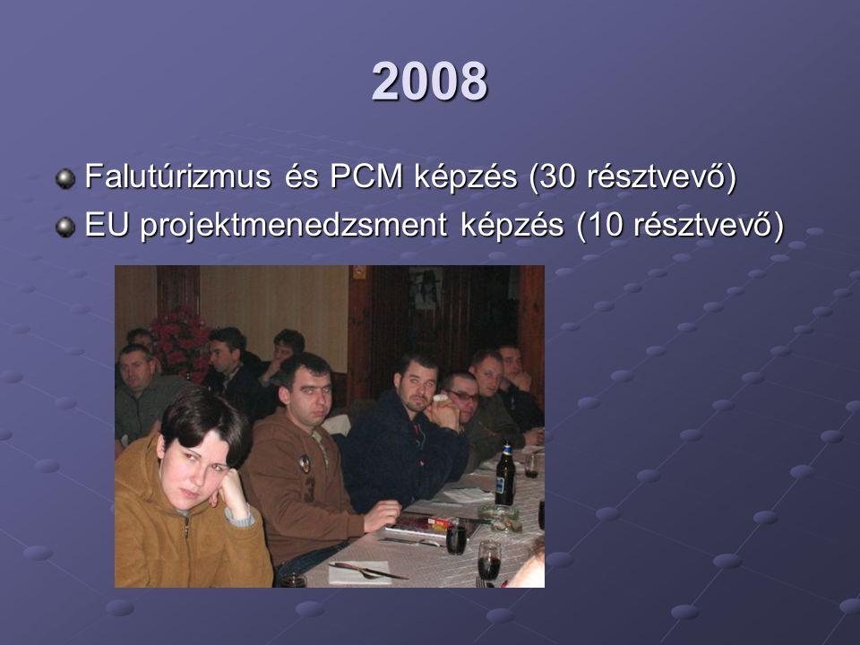 2008 Falutúrizmus és PCM képzés (30 résztvevő)