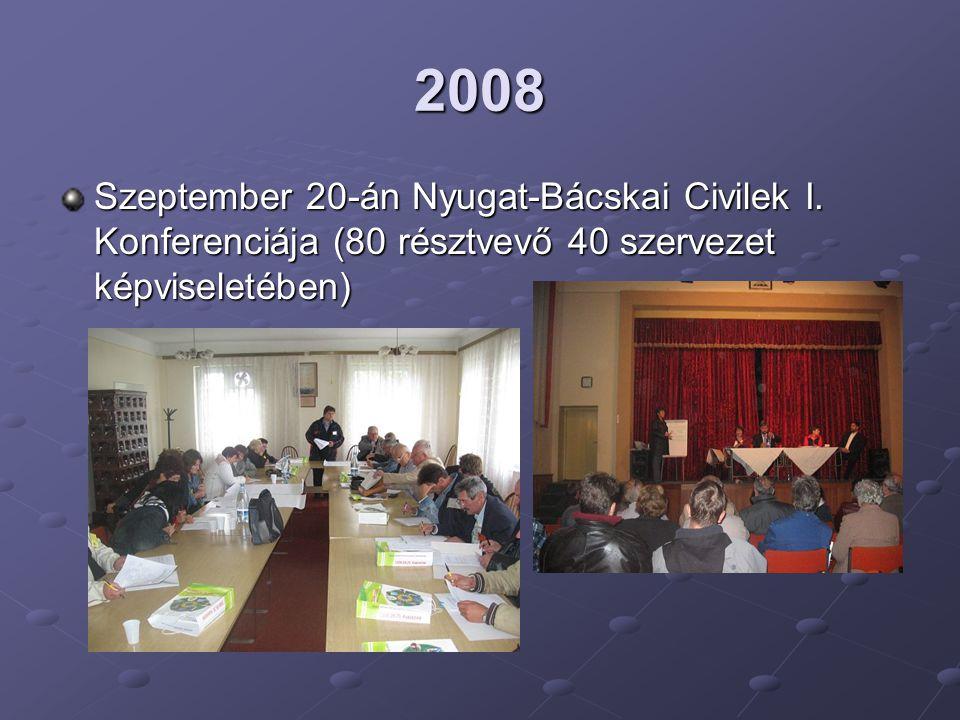 2008 Szeptember 20-án Nyugat-Bácskai Civilek I.