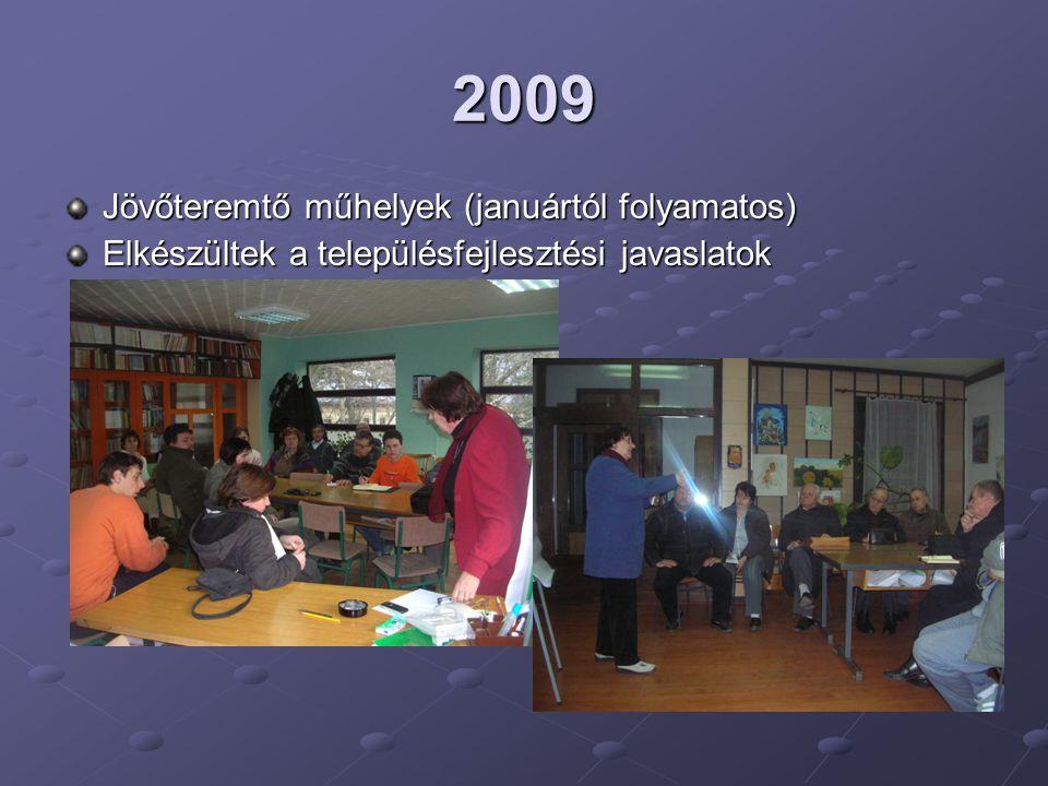 2009 Jövőteremtő műhelyek (januártól folyamatos)