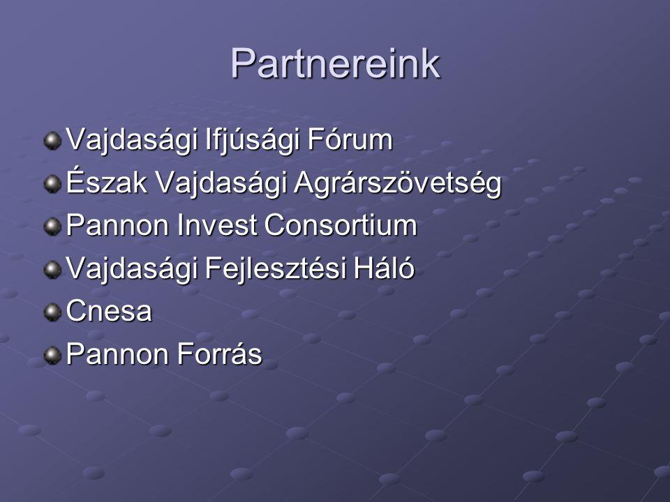 Partnereink Vajdasági Ifjúsági Fórum Észak Vajdasági Agrárszövetség