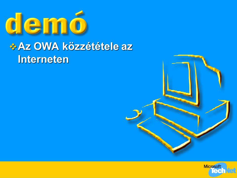 Az OWA közzététele az Interneten