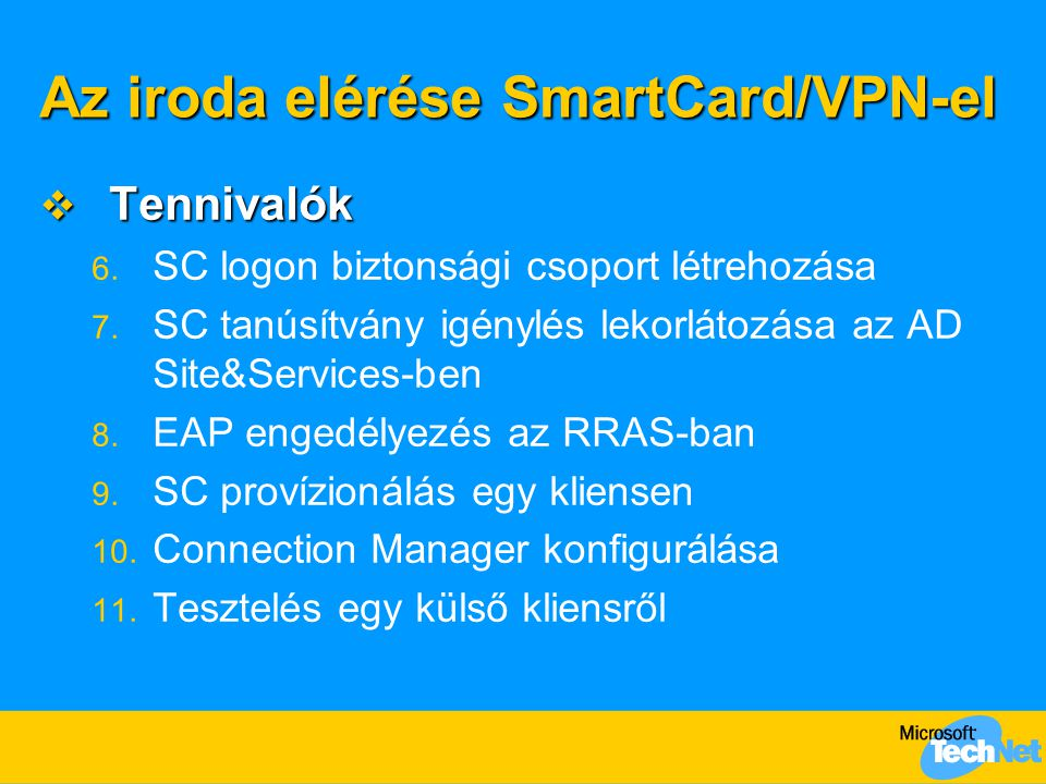 Az iroda elérése SmartCard/VPN-el